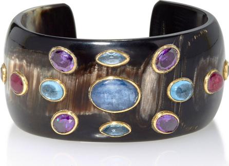 Ashley Pittman Ovu Horn Multi-Stone Cuff