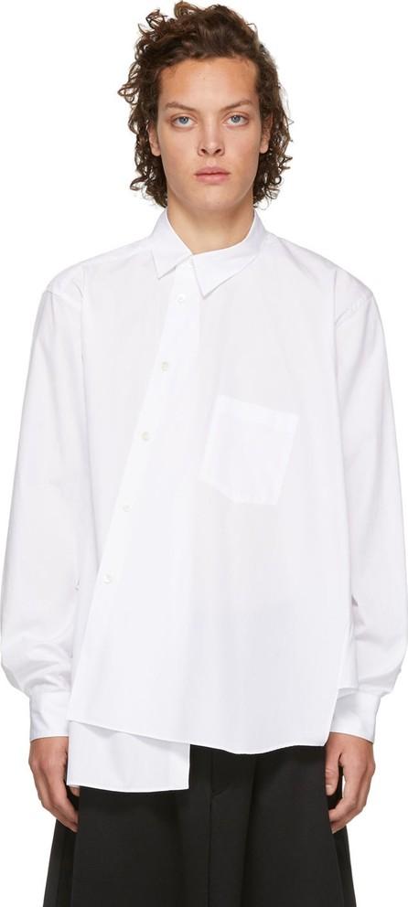 Comme Des Garçons Homme Plus White Asymmetrical Shirt
