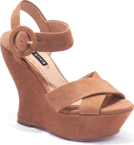 Alice + Olivia Jodiey Suede Wedge Sandals
