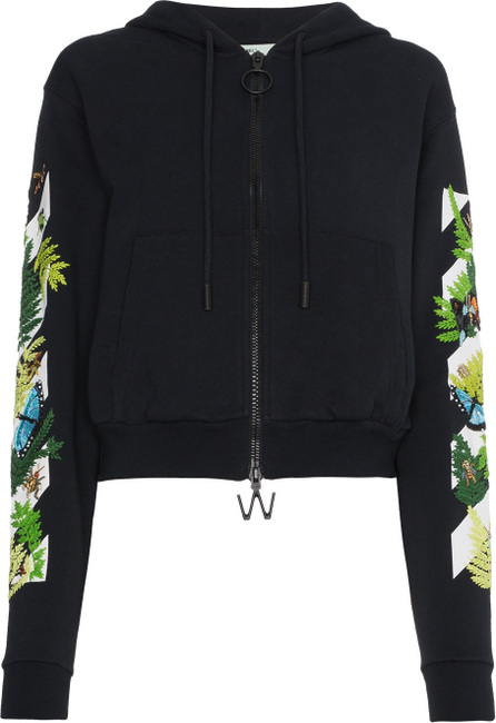 Off White Floral embroidered hoodie