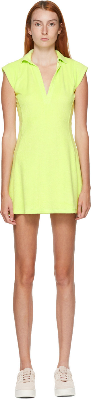 Gil Rodriguez SSENSE Exclusive Green Coco Terry Tennis Dress