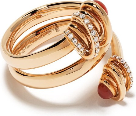 de GRISOGONO 18kt rose gold spiral carnelian and diamond ring