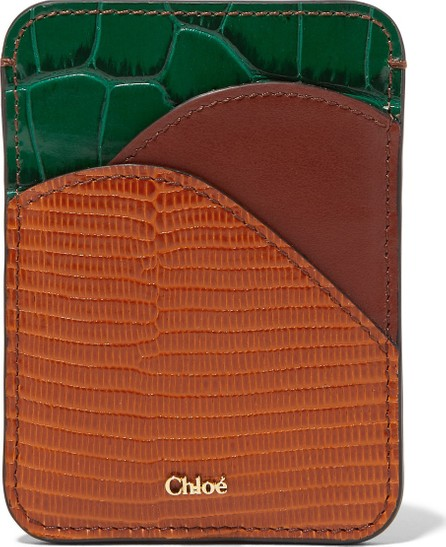 Chloe Walden color-block leather cardholder