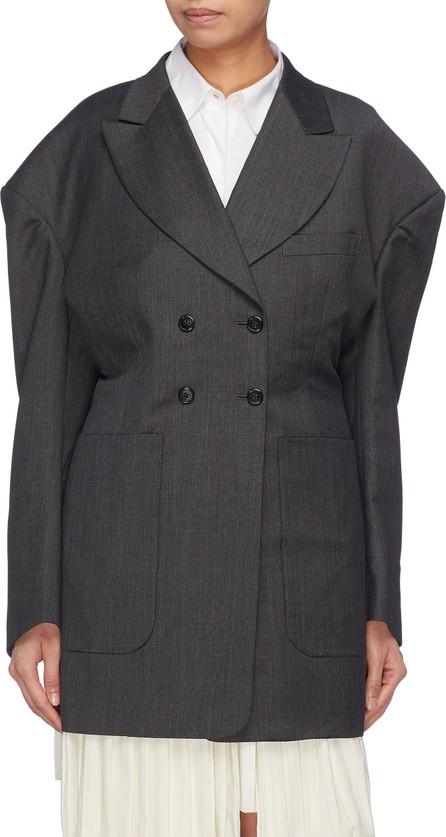 Akiko Aoki Puffed shoulder double breasted blazer