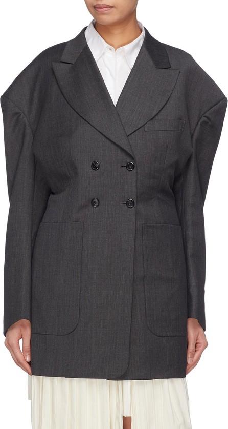 Akiko Aoki Puffed shoulder double breasted blazer