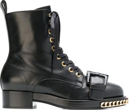 Nº21 Chain trimmed boots