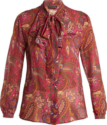 Etro Tiger's Eye paisley-print silk blouse