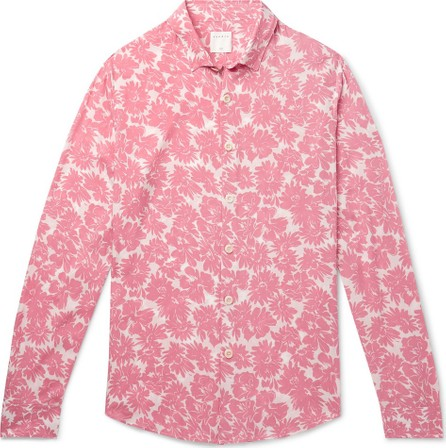 Sandro Floral-Print Voile Shirt