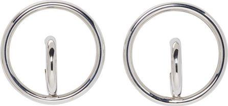 Charlotte Chesnais Silver Large Saturn Blow Earrings