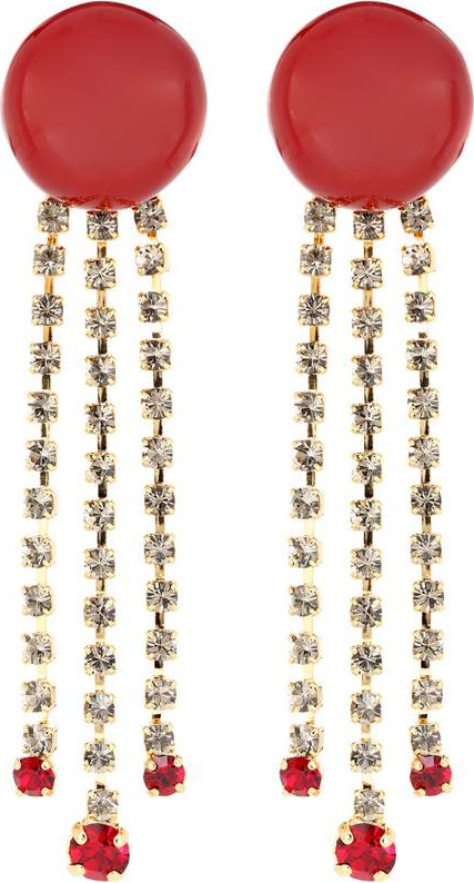 Marni Crystal-embellished clip-on earrings