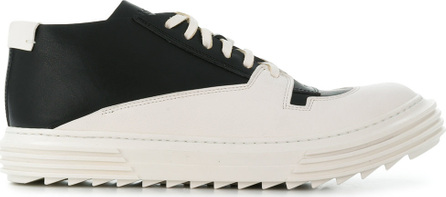 Artselab Layered straps lace-up sneakers