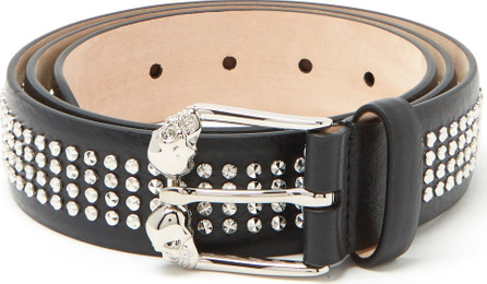 Alexander McQueen Twin-skull studded leather belt