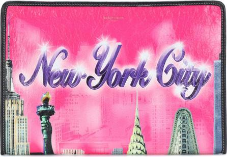 Balenciaga Bazar New York leather pouch
