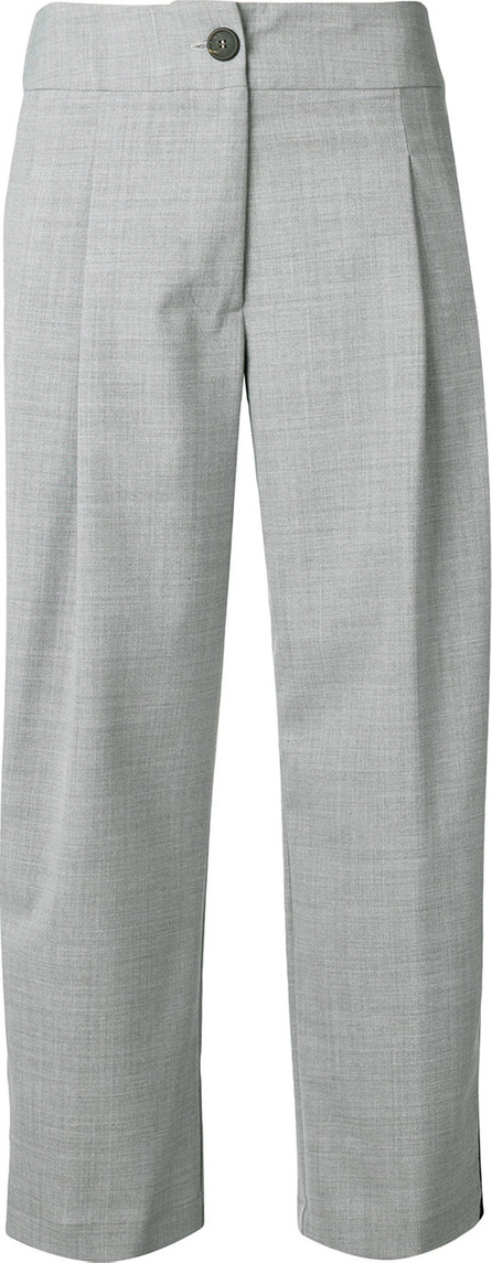 Semicouture Side stripe cropped trousers