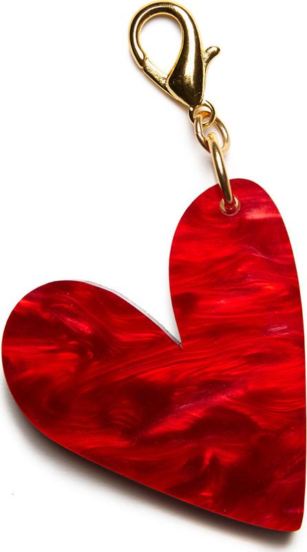 Edie Parker Heart Bag Charm