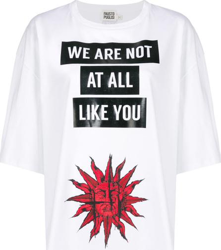 Fausto Puglisi Logo printed T-shirt