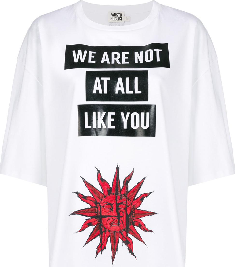 Fausto Puglisi - Logo printed T-shirt
