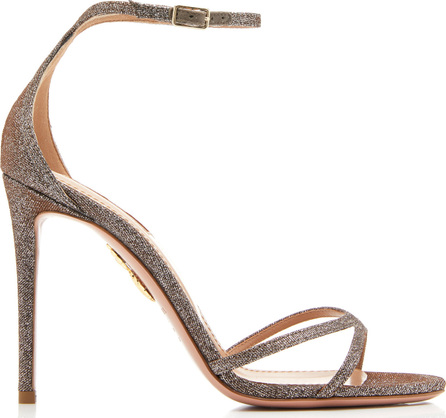 Aquazzura Purist Glittered Leather Sandals