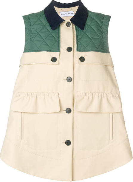 Carven Quilted sleeveless jacket