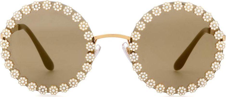 444aaa0cbb8e Dolce   Gabbana Embellished round sunglasses - Mkt