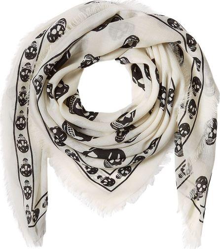 Alexander McQueen Silk Skull Printed Scarf