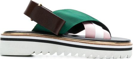 Suecomma Bonnie Colour block platform sandals