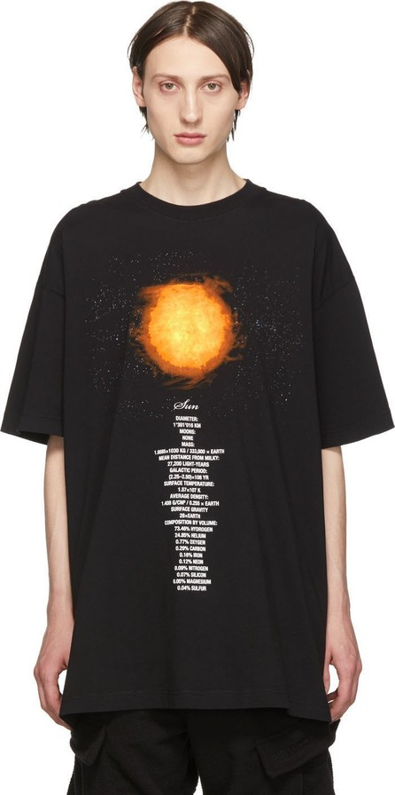 Vetements Black Sun Planet Number T-Shirt