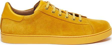 Gianvito Rossi Leather collar suede sneakers
