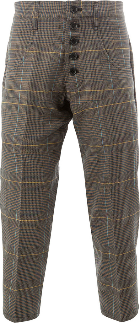 Christopher Nemeth Cropped checked trousers