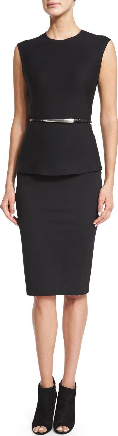 Donna Karan Element Skinny Belt, Black