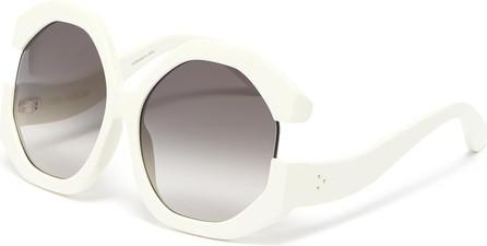 Linda Farrow Bardot hexagonal acetate frame oversized sunglasses