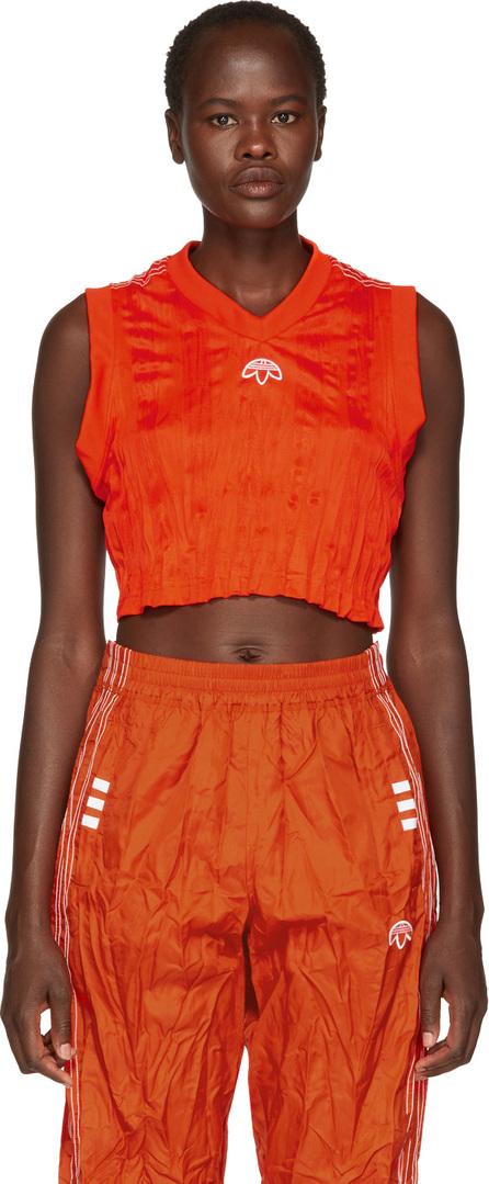 Adidas Originals by Alexander Wang Orange Crop Tank Top