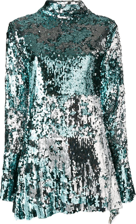 Halpern Embellished contrast mini dress