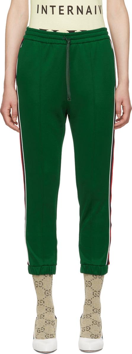 Gucci Green Striped Lounge Pants