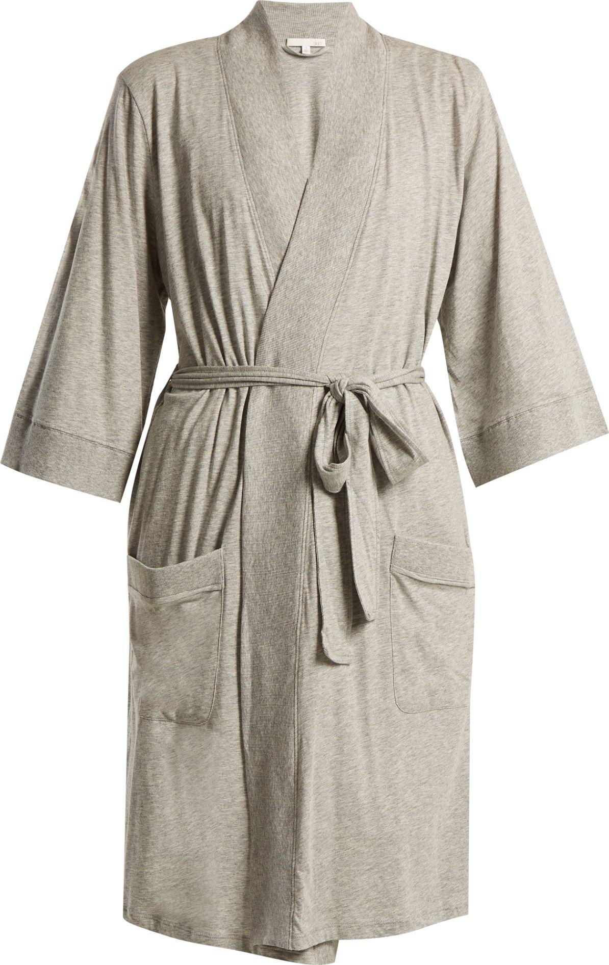 SKIN - Cotton-jersey robe