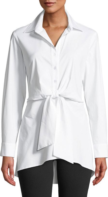 Finley Sylvia Tie-Front Long-Sleeve Top