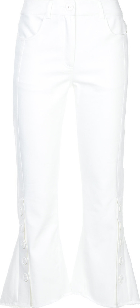 Eudon Choi Fitted cropped trousers