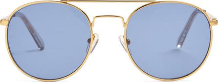 Le Specs Revolution round-frame metal sunglasses