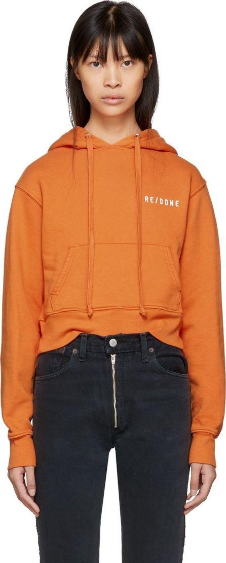 RE/DONE Orange Originals Hard Crop Hoodie