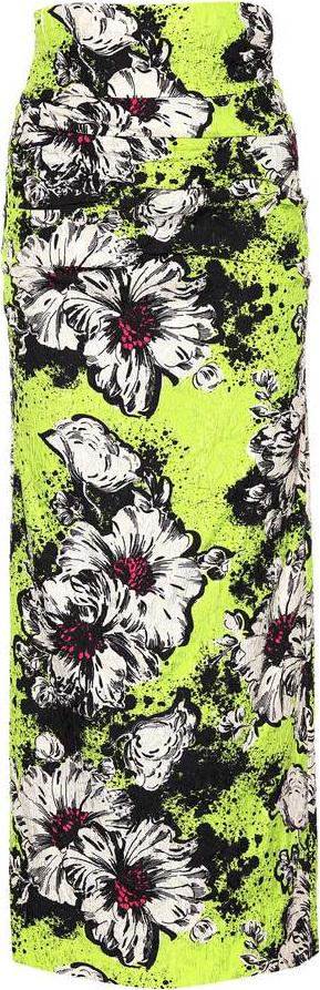 Miu Miu Floral cloqué skirt