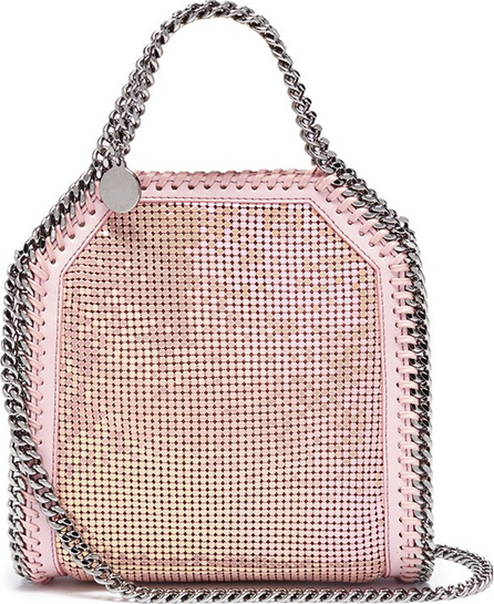 Stella McCartney 'Falabella' mini strass shaggy deer chain tote