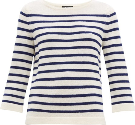 A.P.C. Claudine Breton-striped merino sweater