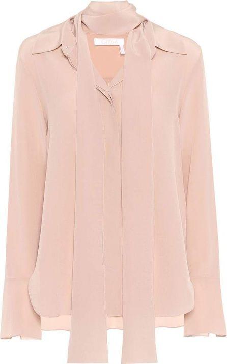 Chloe Silk crêpe-de-chine shirt