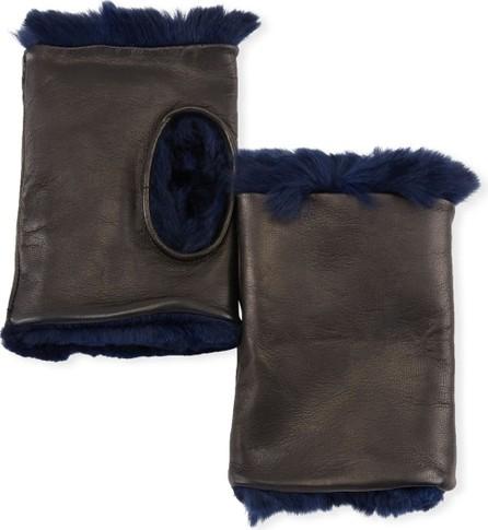 Guanti Giglio Fiorentino Fingerless Leather Gloves w/ Fur Lining