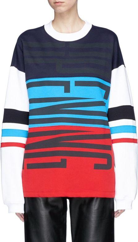 Opening Ceremony 'Charlie Cozy' colourblock logo print unisex sweatshirt