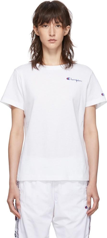 Champion Reverse Weave White Small Script Logo T-Shirt