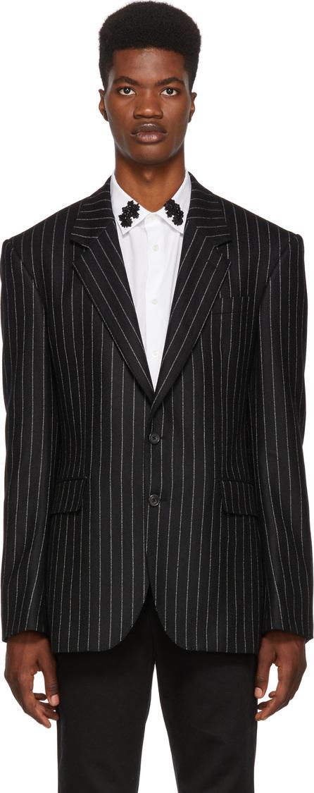 Alexander McQueen Black & White Pinstripe Blazer
