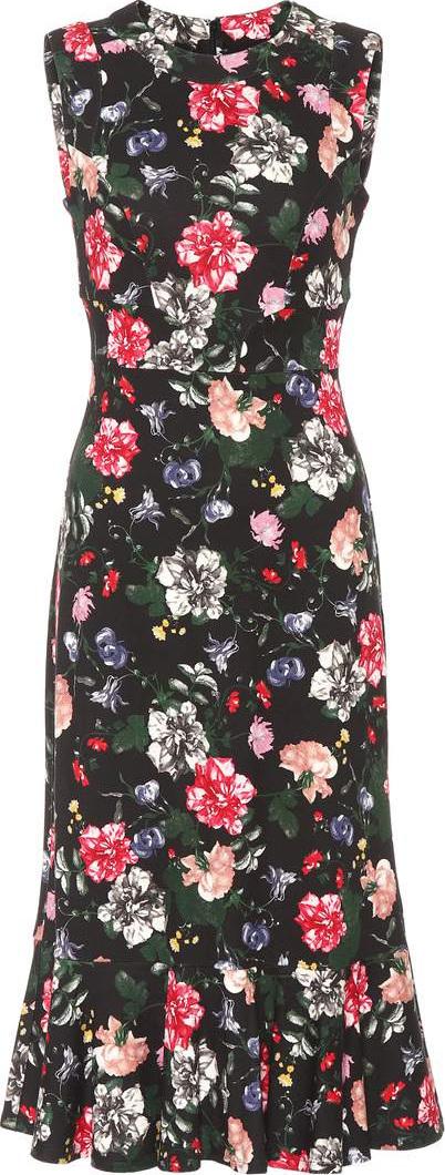 Erdem Grazia floral-printed ponte dress