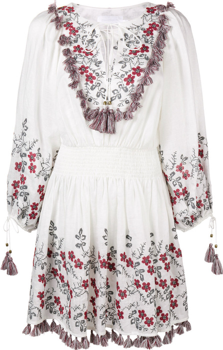 Zimmermann Flower embroidered flared dress