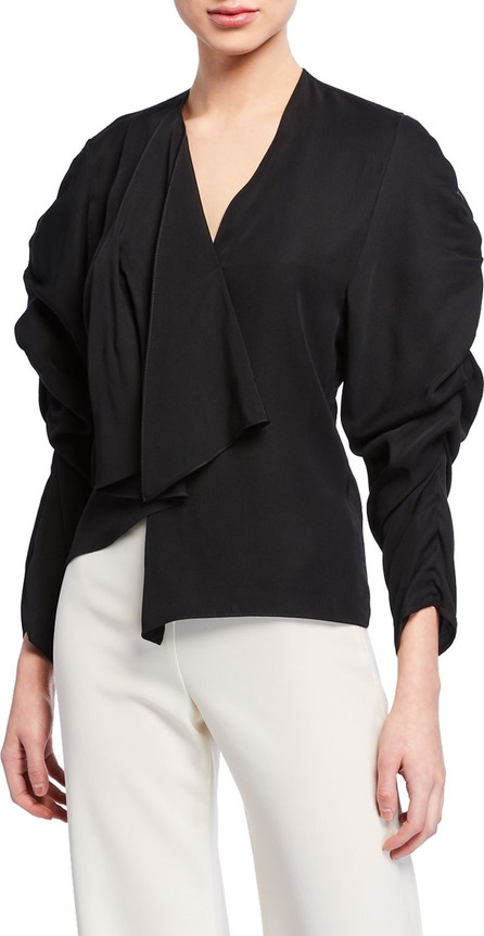 A.W.A.K.E V-Neck Long-Sleeve Ruched Top